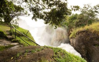 Hiking the top of Murchison Falls
